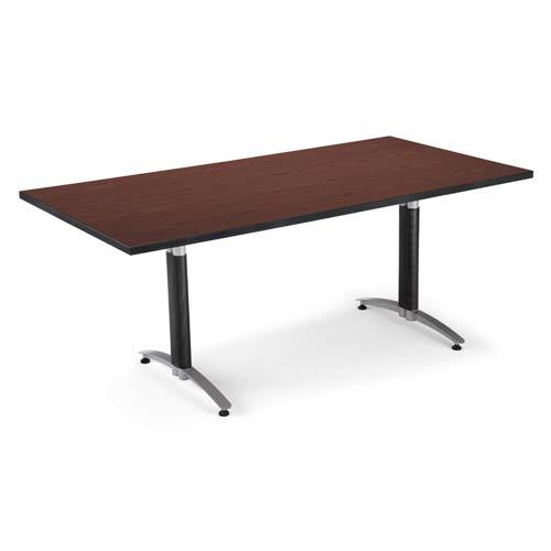 Mahogany 36 x 72 Metal Base Conference Table