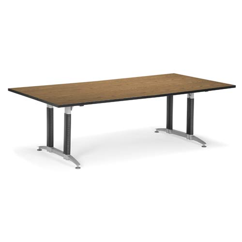 English Oak 48 x 96 Metal Base Conference Table