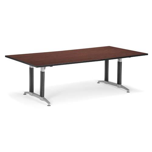 Mahogany 48 x 96 Metal Base Conference Table