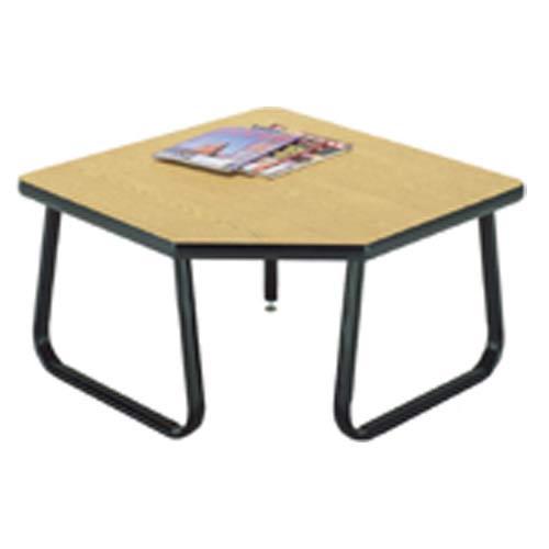 Sled Leg Oak Corner Table