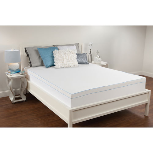 White 3-Inch Twin Memory Foam Mattress Topper