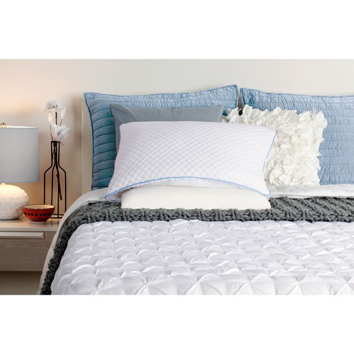 White Standard Half and Half Pillow