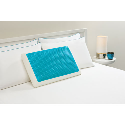 Hydraluxe Bubble Blue Standard Gel Bed Pillow