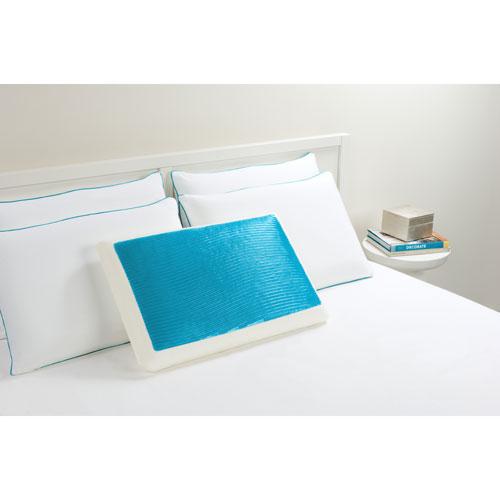 Comfort Revolution Hydraluxe Wave Blue Standard Gel Bed Pillow
