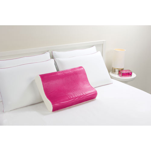 comfort revolution hydraluxe wave pink contour gel pillow - Comfort Revolution Pillow