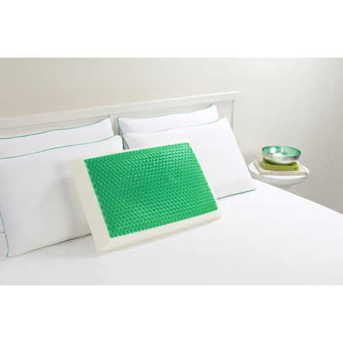 Hydraluxe Bubble Green Standard Gel Bed Pillow