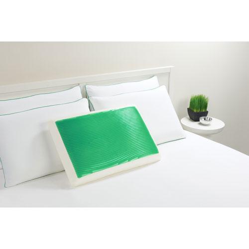 Comfort Revolution Hydraluxe Wave Green Standard Gel Bed Pillow