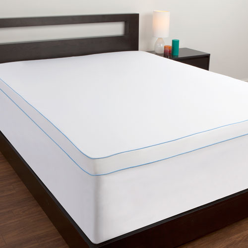 White Microfiber Twin Mattress Topper Cover