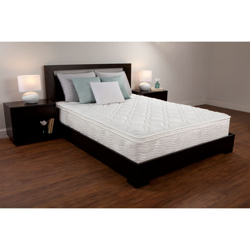 White 10-Inch Queen Foam and Coil Hybrid Mattress