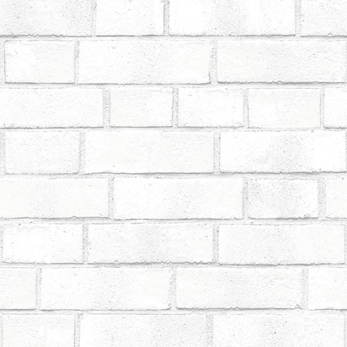 Brick White Textured 33 ft. L x 20.5 In. W Removable Wallpaper
