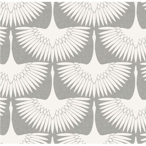 Genevieve Gorder Feather Flock Chalk Removable Wallpaper