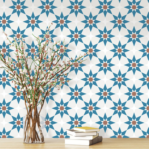 Soleil Morrocan Removable Wallpaper