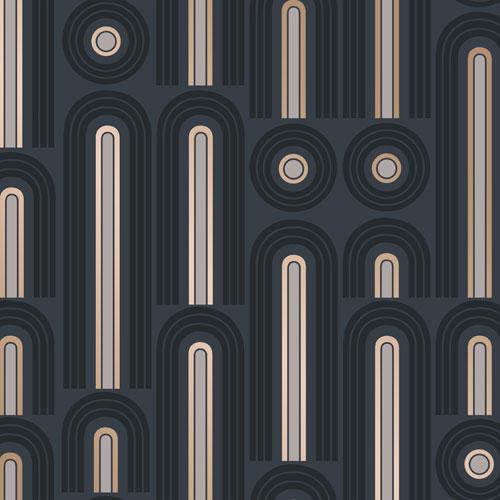 Novogratz Wave Pop Graphite Removable Wallpaper