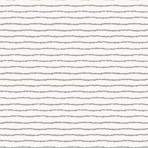 Bobby Berk Lines Washed On White Removable Wallpaper