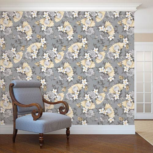 Botanical Pearl Yellow Removable Wallpaper
