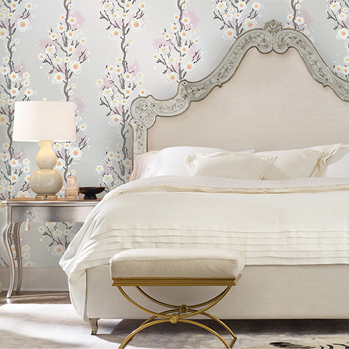 Cherry Blossom Silver Removable Wallpaper