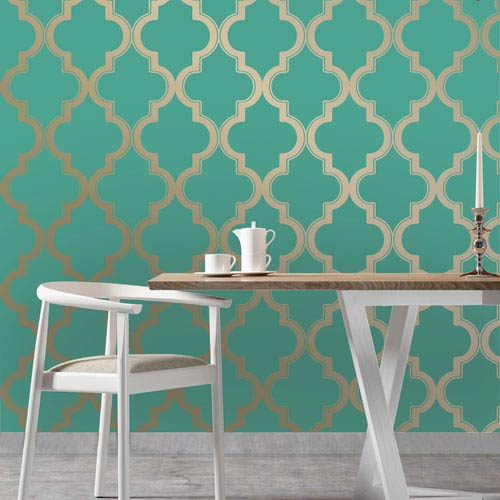 Marrakesh Honey and Jade Removable Wallpaper