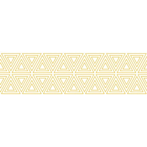 Tempaper Designs Triangles Metallic Gold and White Removable Wallpaper