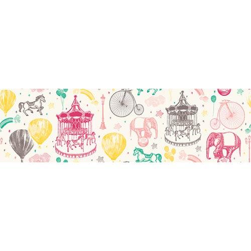 Carnival Toile Multicolor Removable Wallpaper