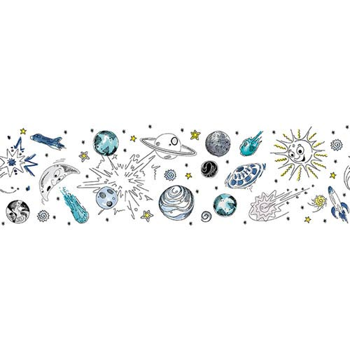 Galaxy Out Of This World White Removable Wallpaper
