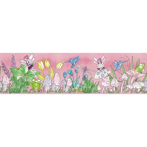 Magical Garden Pink Removable Wallpaper