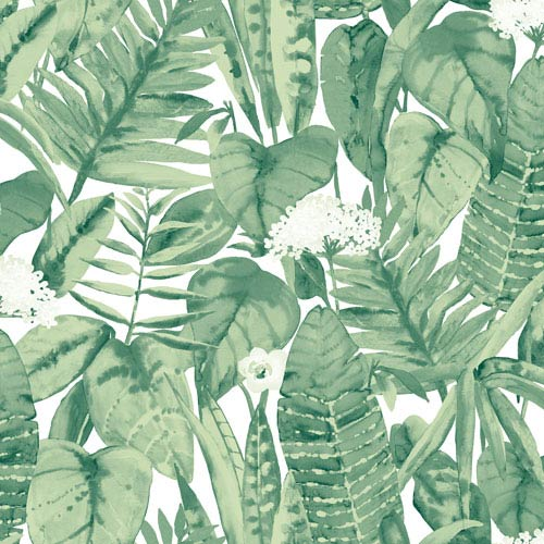 Tropical Jungle Green Removable Wallpaper