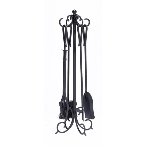 Pleasant Hearth Black 5-Piece Lewis Fireplace Tool Set