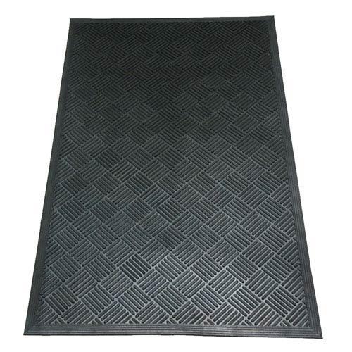 Dura-Scraper Checkered Black 3 Ft. x 5 Ft. Commercial Entrance Mat