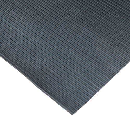 Black Ramp Cleat Non-Slip Outdoor 3 Ft x 20 Ft Rubber Mat
