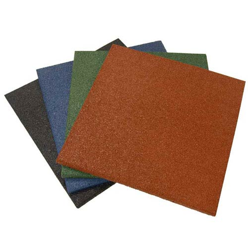 Green Eco-Sport Interlocking Flooring Tiles, Set of Three