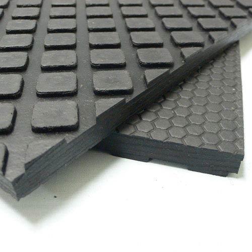 Maxx-Tuff Black 3 Ft x 4 Ft Floor Protection Rubber Mat