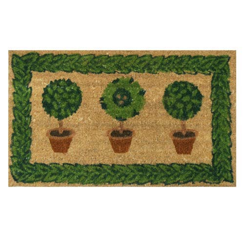 Tan and Green Grandmas Plants Door Mat