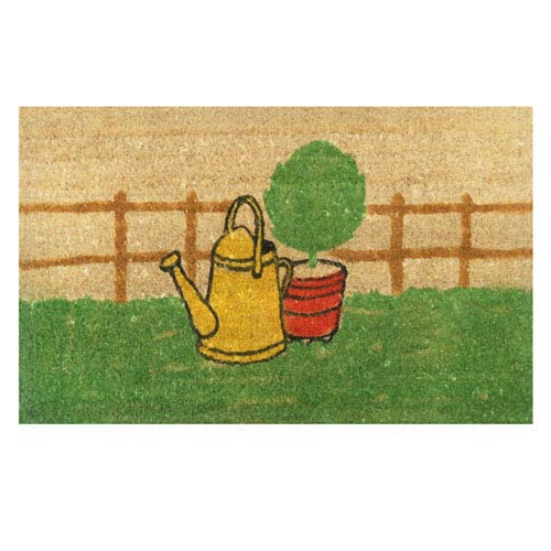 Tan and Green Herb Garden Door Mat