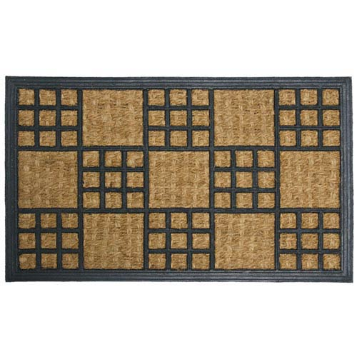 Rubber Cal Tan And Black Summer In Cardiff Coco Door Mat