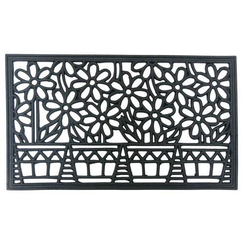 Black Bountiful Summer Cast Iron Door Mat