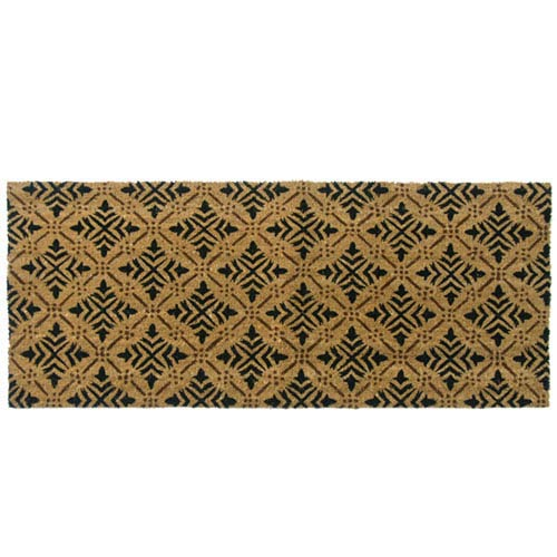 Tan Classic Fleur de Lis French Matting Double Door Mat