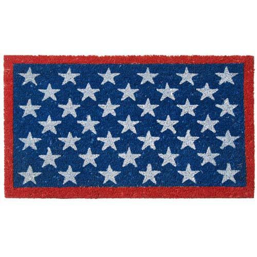 Red, White, and Blue Patriotic Door Mat