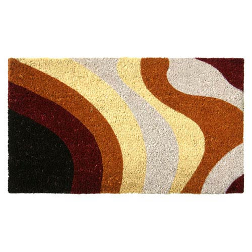 Brown Streaks Door Mat