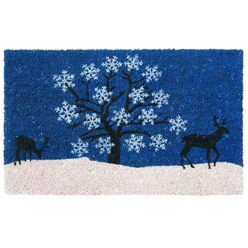 Blue Sky Holiday Door Mat