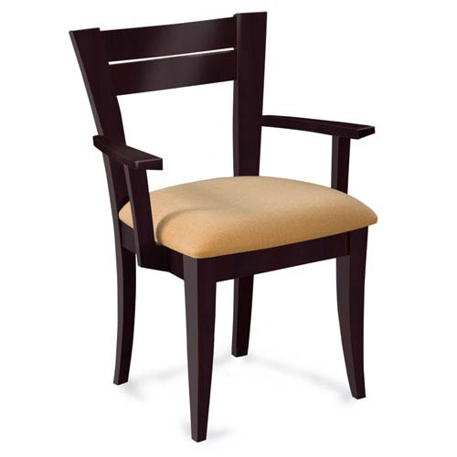 Skyline Impression Arm Chair in Chocolate Finish