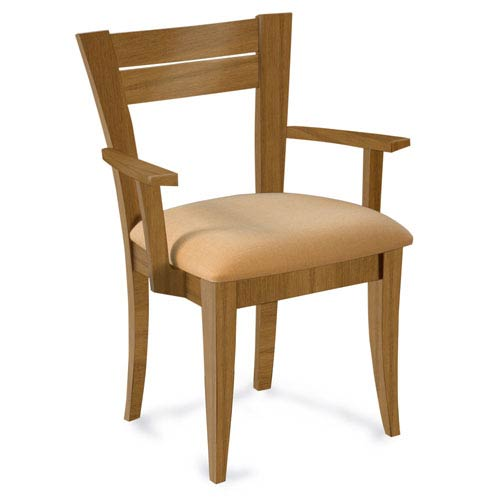 Skyline Linen Arm Chair in Flax Finish