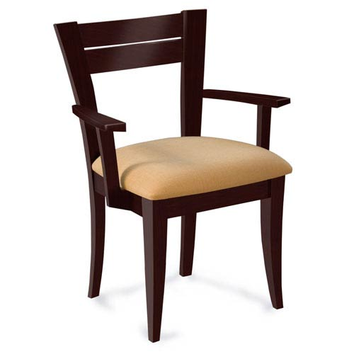 Skyline Linen Arm Chair in Java Finish