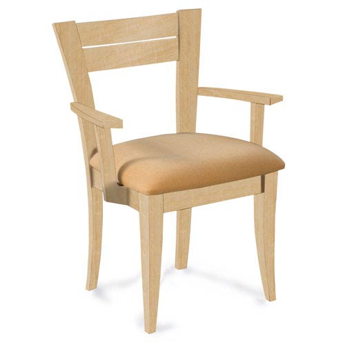 Skyline Linen Arm Chair in Natural Finish