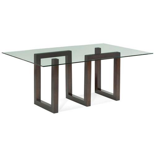 Saloom Furniture Serpent Java Glass Top Dining Table Gcfs 4472 Ser