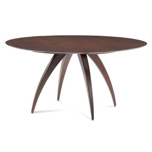 Saloom Furniture Ella - 48 Round Maple Dining Table - Strata Texture Top - Java Finish