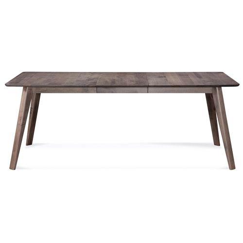 Saloom Furniture Alton - 42x60 Rectangular Maple Dining Table - Strata Texture Top - Nantucket Finish