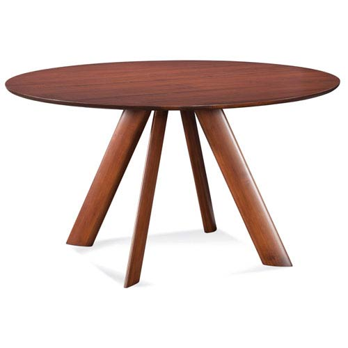 Eden 54 Inch Walnut Round Dining Table