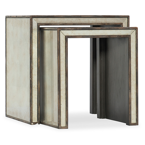 Arabella Silver and Brown Nesting Tables