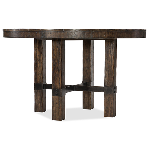 Roslyn County Dark Wood 60-Inch Round Dining Table