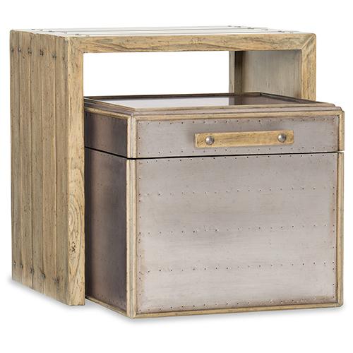 Urban Elevation Light Wood Nesting Storage Table